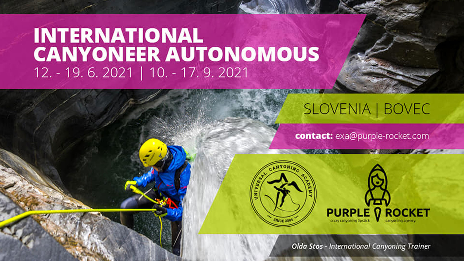 Canyoning Autonomus Course in Bovec