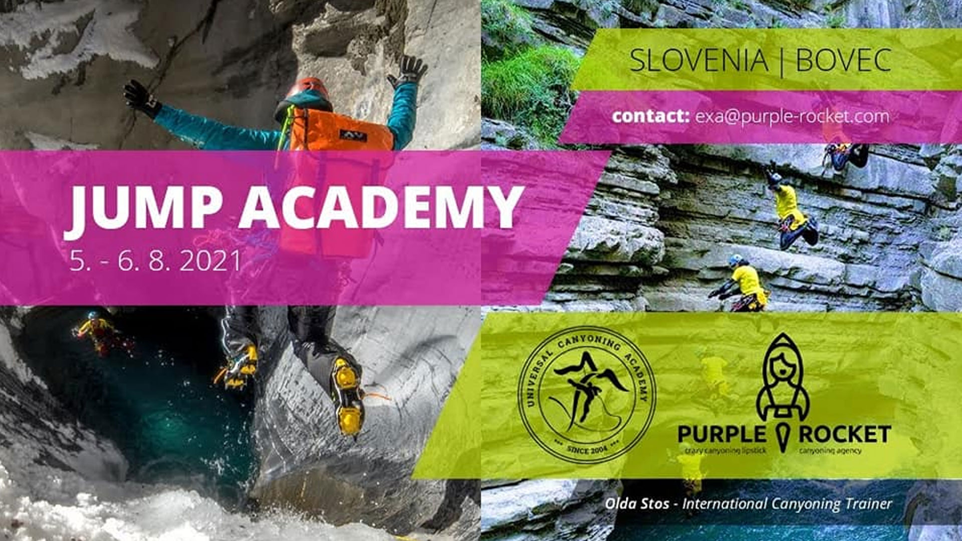 Canyoning course for jumps