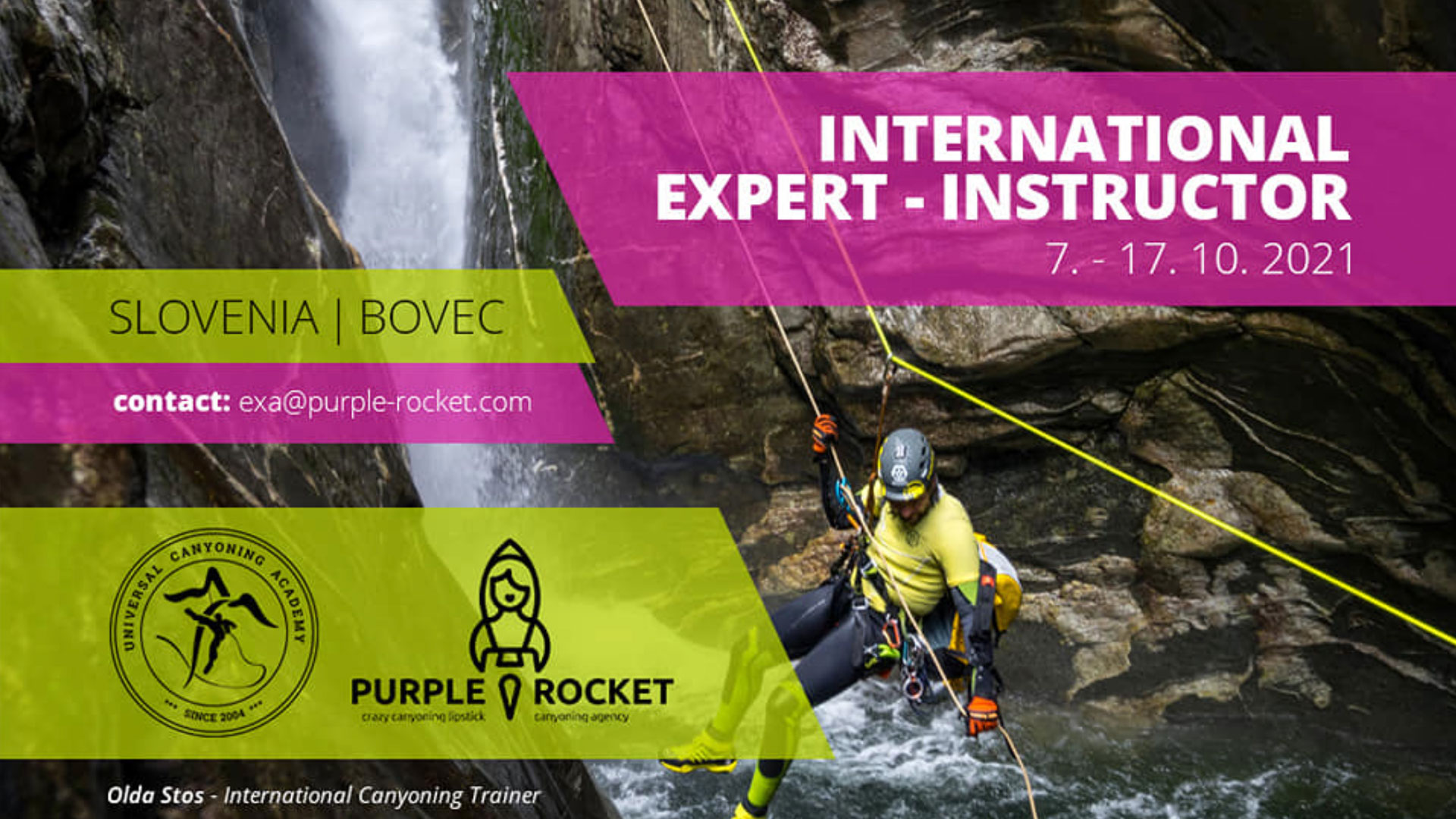 Banner by Purple Rocket for the International Expert Course
