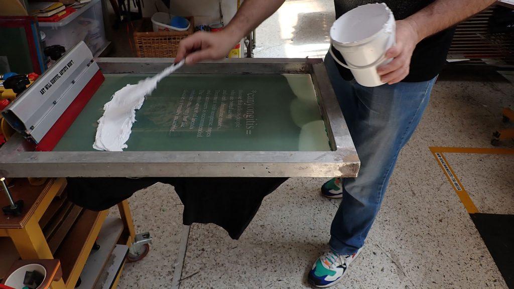 Canyoning t-shirt Canyongitis silk printed by Tind