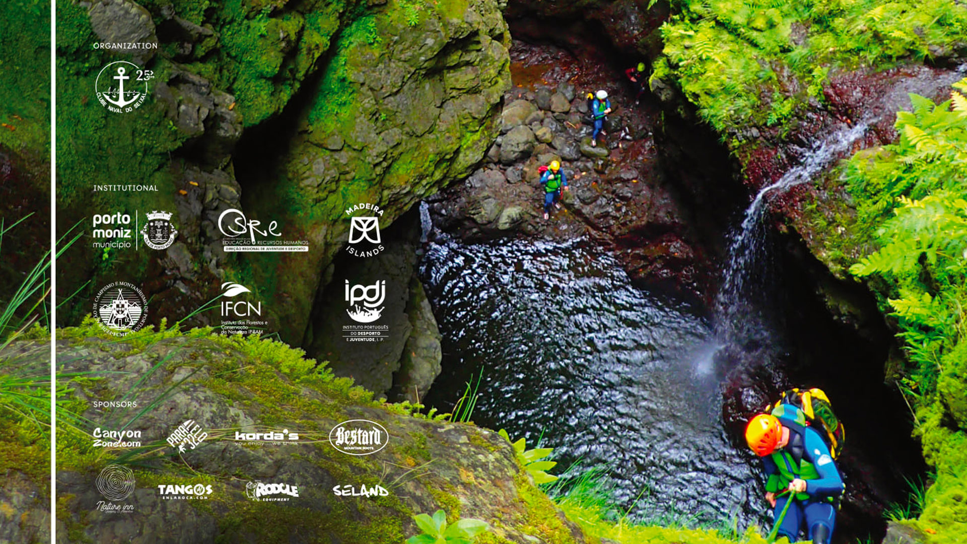 Madeira canyoning meeting 2021 logos of organisers and sponsors