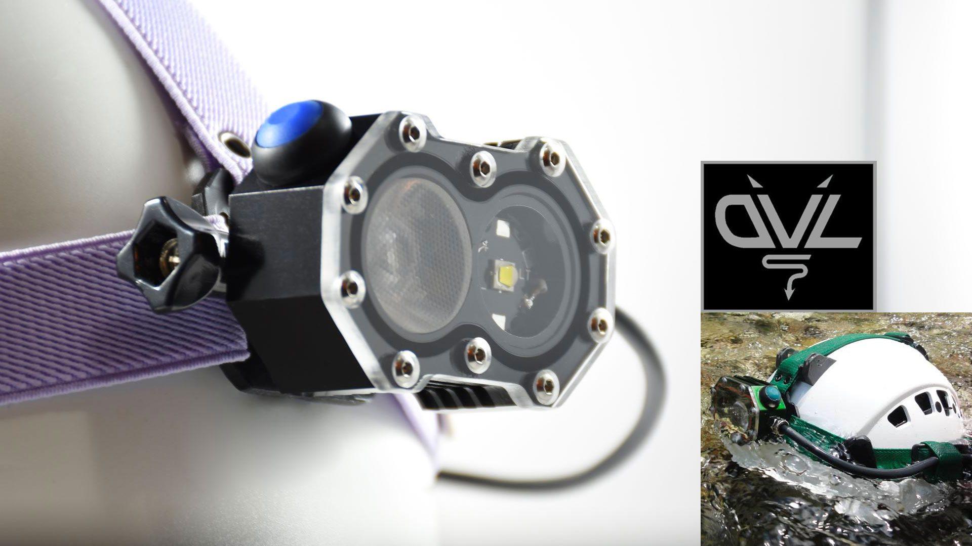 Dvls canyoning and caving headlamp