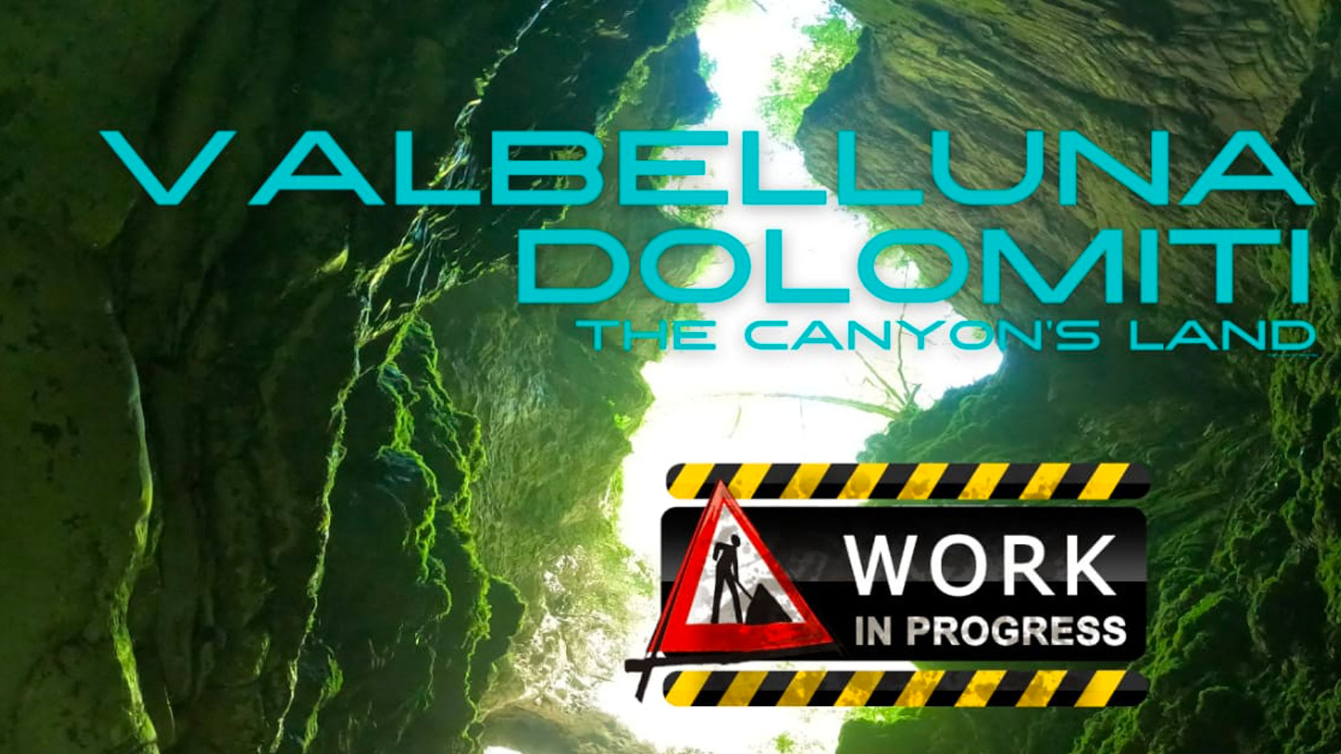 Banner for the canyoning meeting in Dolomiti