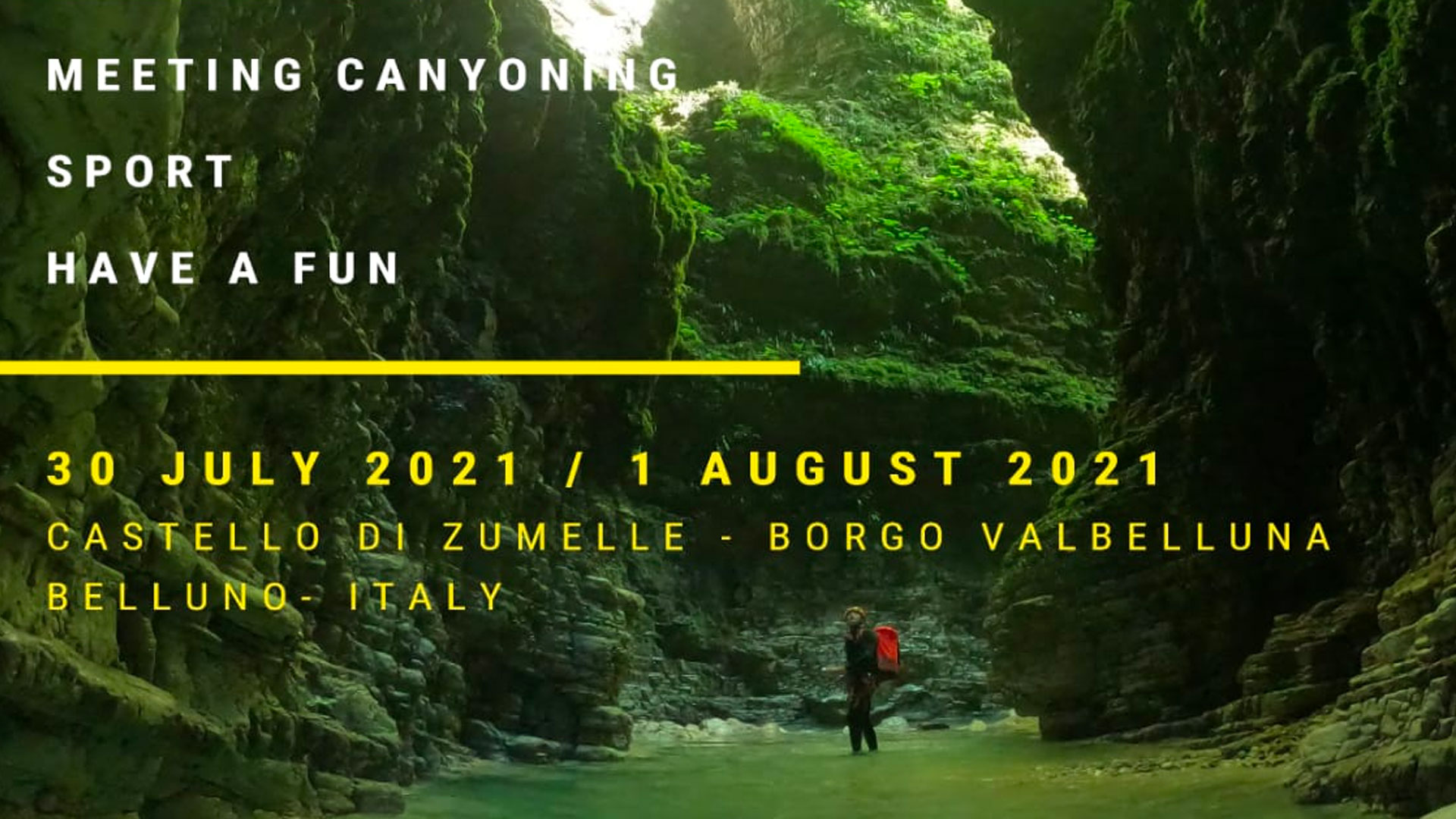 Details for the canyoning meeting in Dolomiti