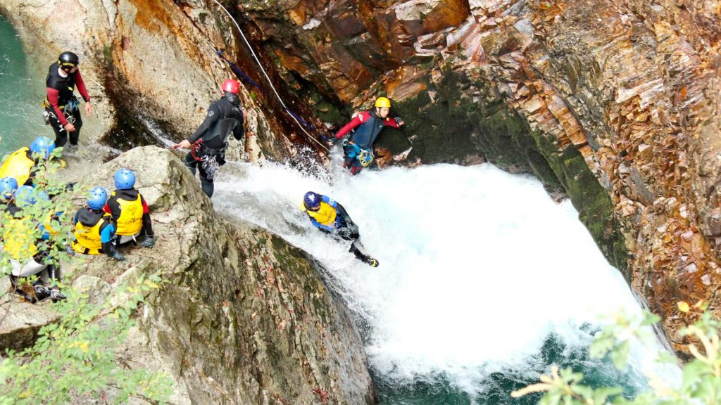 Canyoning course in Minakami Japan