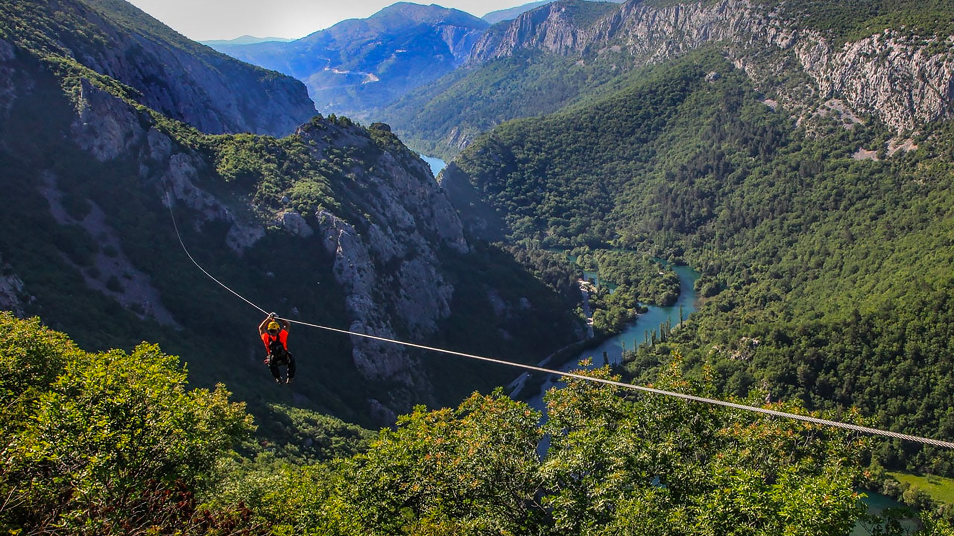 Glide on a zipline over a canyon!