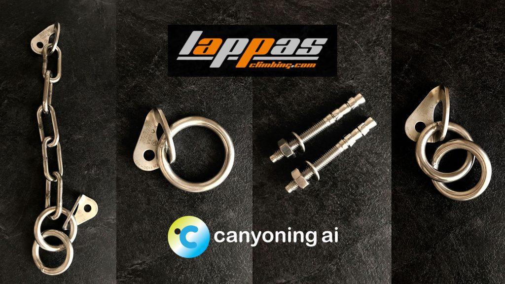 Lappas bolts at canyoning.ai store